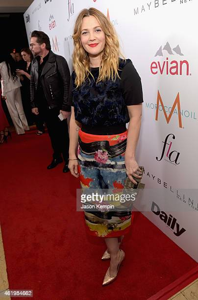 Actress Drew Barrymore attends The DAILY FRONT ROW 'Fashion Los Angeles Awards' Show at Sunset Tower on January 22 2015 in West Hollywood California