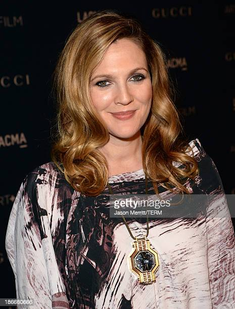 Actress Drew Barrymore attends the LACMA 2013 Art + Film Gala honoring Martin Scorsese and David Hockney presented by Gucci at LACMA on November 2,...