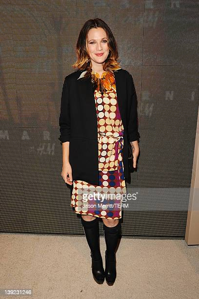 Actress Drew Barrymore attends the Marni at HM Collection Launch at Lloyd Wright's Sowden House on February 17 2012 in Los Angeles California
