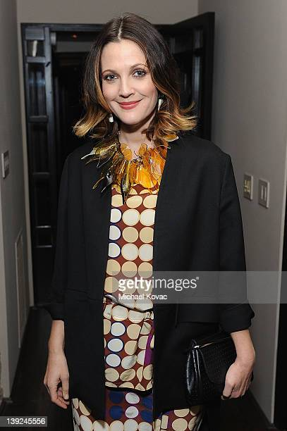 Actress Drew Barrymore attends the Marni at H&M Collection Launch at Lloyd Wright's Sowden House on February 17, 2012 in Los Angeles, California.