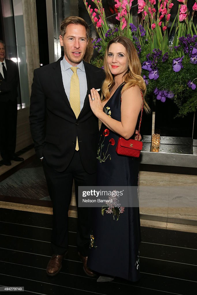 Actress Drew Barrymore attends the Montblanc & The Cinema Society screening of Roadside Attractions & Lionsgate's 'Miss You Already' at The Rainbow Room on October 25, 2015 in New York City.