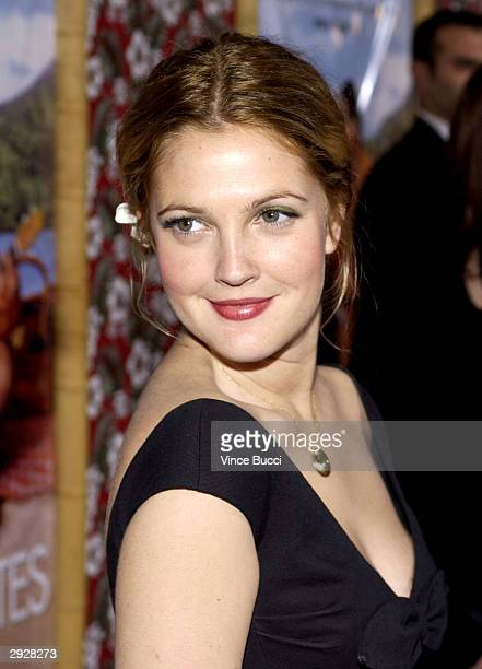 Actress Drew Barrymore attends the premiere of the film '50 First Dates' on February 3 2004 at the Mann Village in Westwood California