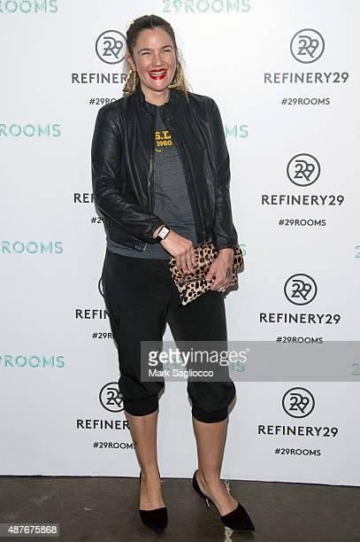 Actress Drew Barrymore attends the Refinery29's '29Rooms' Opening Night at 13 Huron Street on September 10 2015 in Brooklyn New York