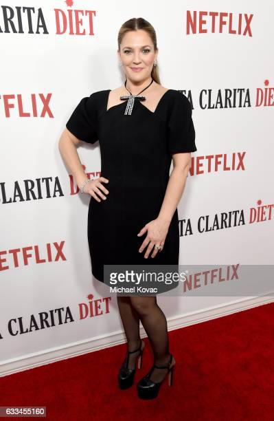 Actress Drew Barrymore attends the Santa Clarita Diet Premiere on February 1 2017 in Los Angeles California