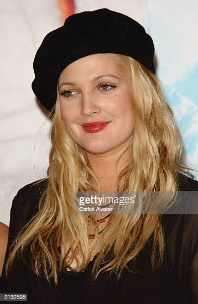 Actress Drew Barrymore attends the Spanish premiere of the new Charlie Angels movie at Kinepolis cinema July 2 2003 in Madrid Spain