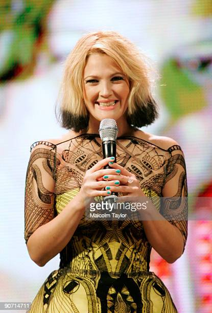 Actress Drew Barrymore attends the spotlight on 'Whip It' event during the 2009 Toronto International Film Festival held at the Yonge Dundas Square...