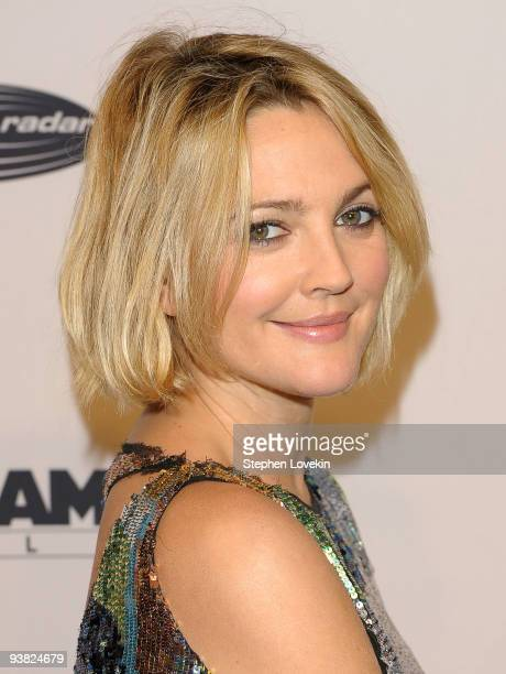 Actress Drew Barrymore attends the Tribeca Film Institute's benefit screening of Everybody's Fine at AMC Lincoln Square on December 3 2009 in New...