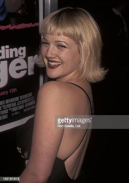 Actress Drew Barrymore attends 'The Wedding Singer' New York City Premiere on February 12 1998 at Sony Theatres Lincoln Square in New York City