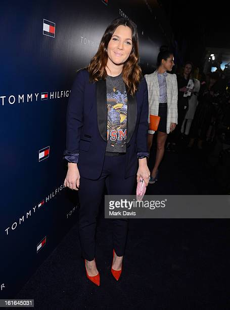 Actress Drew Barrymore attends Tommy Hilfiger New West Coast Flagship Opening on Robertson Boulevard on February 13 2013 in West Hollywood California