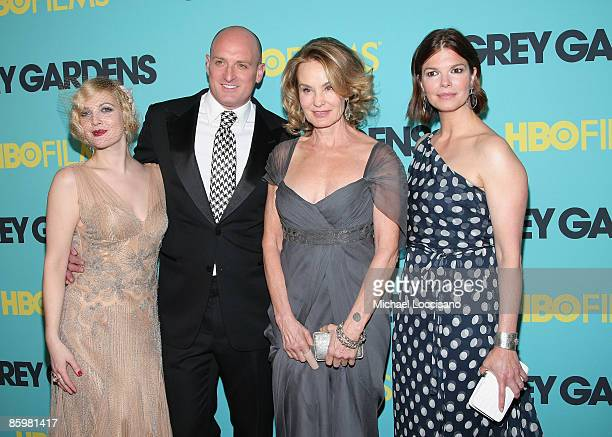 Actress Drew Barrymore director Michael Sucsy actress Jessica Lange and actress Jeanne Tripplehorn attend the HBO Films premiere of Grey Gardens at...