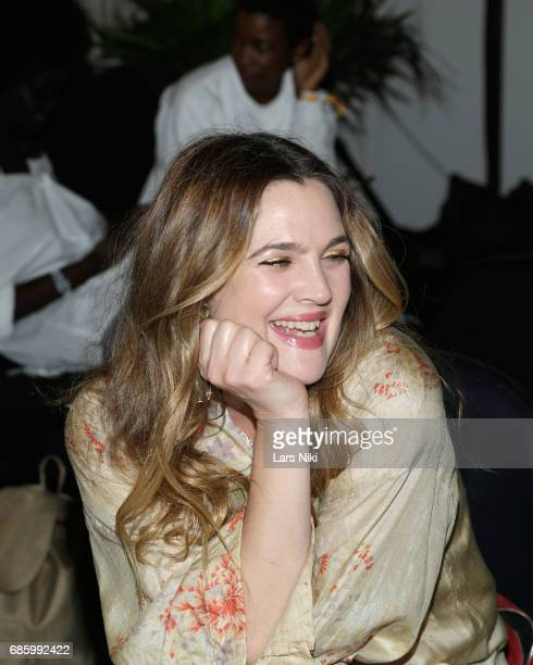 Actress Drew Barrymore has a laugh during Beautycon Festival NYC 2017 at Brooklyn Cruise Terminal on May 20 2017 in New York City