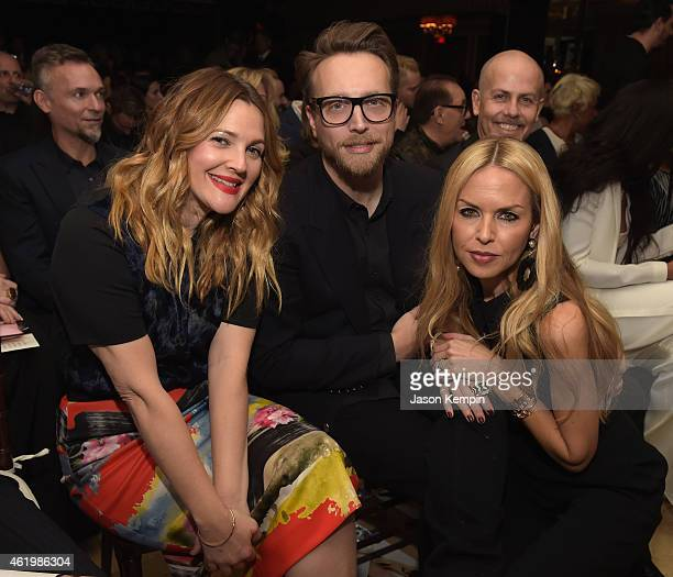 Actress Drew Barrymore honoree Ariel Foxman and designer Rachel Zoe attend The DAILY FRONT ROW 'Fashion Los Angeles Awards' Show at Sunset Tower on...