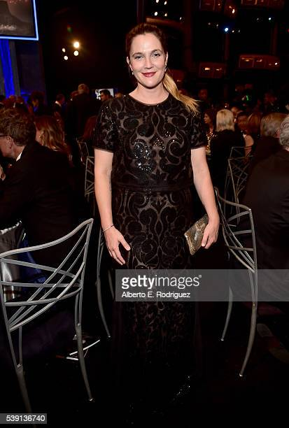 Actress Drew Barrymore poses in the audience during American Film Institute's 44th Life Achievement Award Gala Tribute to John Williams at Dolby...