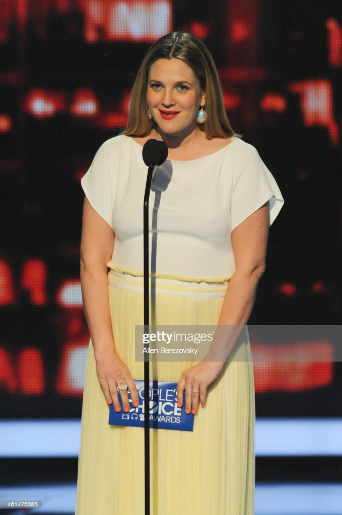 Actress Drew Barrymore speaks onstage at The 40th Annual People's Choice Awards show at Nokia Theatre LA Live on January 8, 2014 in Los Angeles, California.