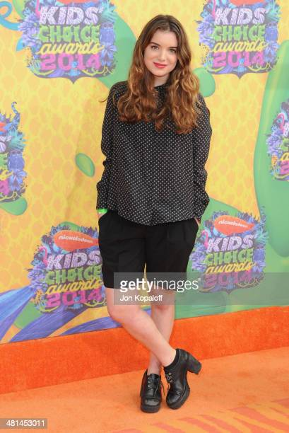 Actress Dylan Gelula arrives at Nickelodeon's 27th Annual Kids' Choice Awards at USC Galen Center on March 29 2014 in Los Angeles California