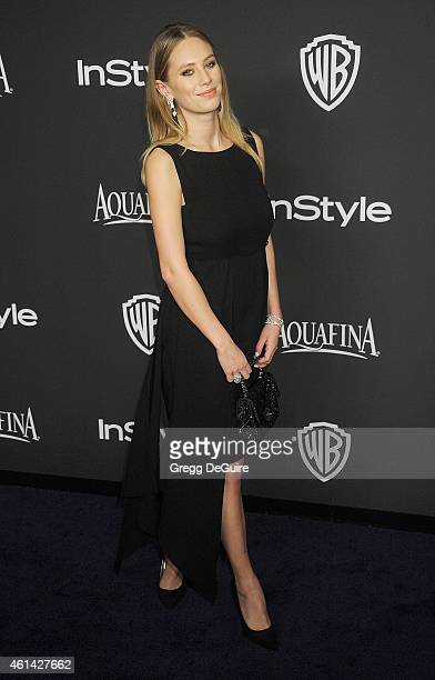 Actress Dylan Penn arrives at the 16th Annual Warner Bros. And InStyle Post-Golden Globe Party at The Beverly Hilton Hotel on January 11, 2015 in...