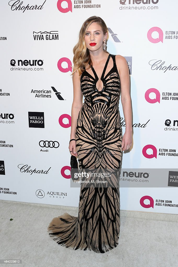 Actress Dylan Penn attends the 23rd Annual Elton John AIDS Foundation's Oscar Viewing Party on February 22, 2015 in West Hollywood, California.