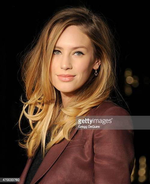 Actress Dylan Penn attends the Burberry London in Los Angeles event at Griffith Observatory on April 16 2015 in Los Angeles California