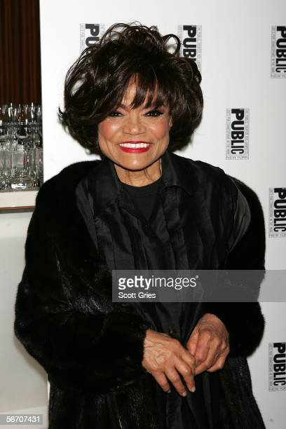 Actress Eartha Kitt arrives at the after party for 'The Public Sings A 50th Anniversary Celebration' at the Time Warner Center January 30 2006 in New...