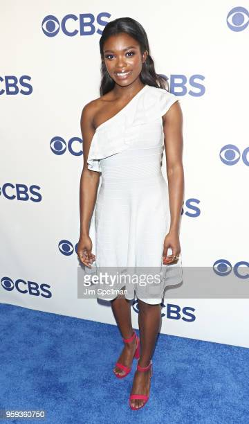 Actress Ebonee Noel attends the 2018 CBS Upfront at The Plaza Hotel on May 16 2018 in New York City