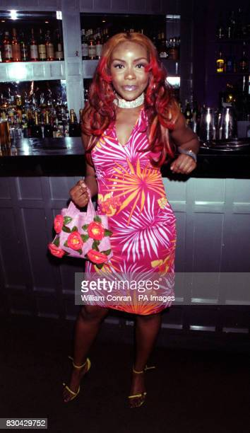 Actress Ebony Thomas who plays 'Yasmin Matthews' at Channel 5's Family Affairs celebrity party held at the Ten Rooms in London