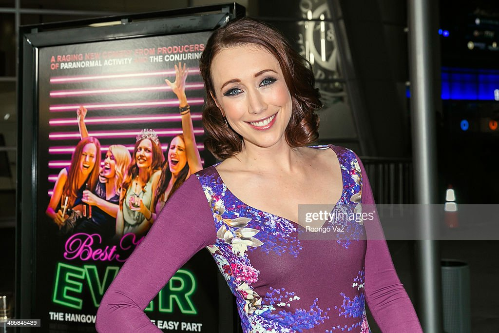 Actress Eddie Ritchard attends the 'Best Night Ever' Los Angeles premiere at ArcLight Cinemas on January 29, 2014 in Hollywood, California.