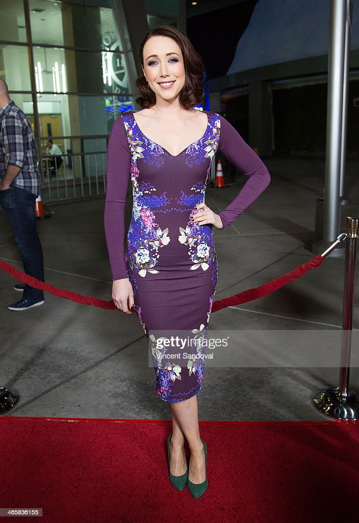 Actress Eddie Ritchard attends the Los Angeles Premiere of 'Best Night Ever' at ArcLight Cinemas on January 29, 2014 in Hollywood, California.