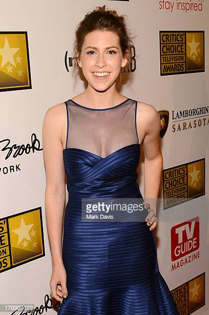 Actress Eden Sher arrives at Broadcast Television Journalists Association's third annual Critics' Choice Television Awards at The Beverly Hilton...