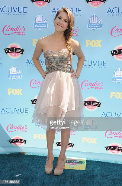 Actress Eden Sher attends the 2013 Teen Choice Awards at Gibson Amphitheatre on August 11 2013 in Universal City California