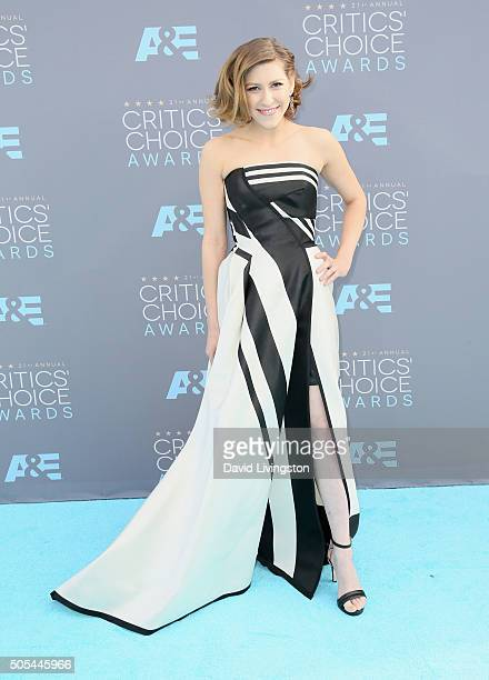 Actress Eden Sher attends The 21st Annual Critics' Choice Awards at Barker Hangar on January 17 2016 in Santa Monica California