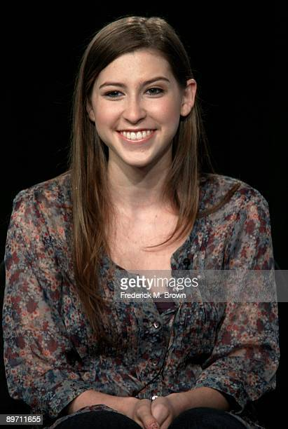 Actress Eden Sher of the television show 'The Middle' speaks during the ABC Network portion of the 2009 Summer Television Critics Association Press...