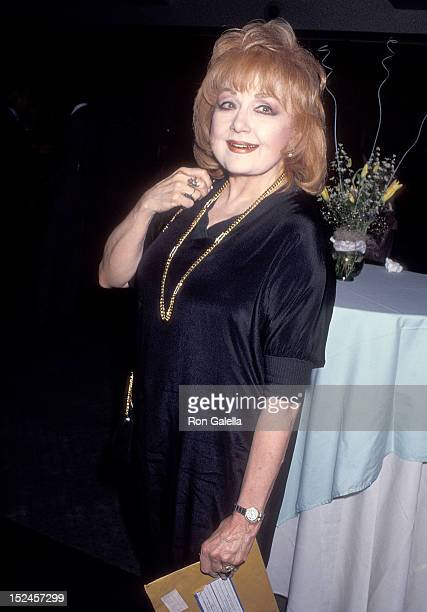 Actress Edie adams attends the Academy of Motion Picture Arts and Sciences and the Academy Foundation Salute to Joseph L Mankiewicz on May 6 1991 at...