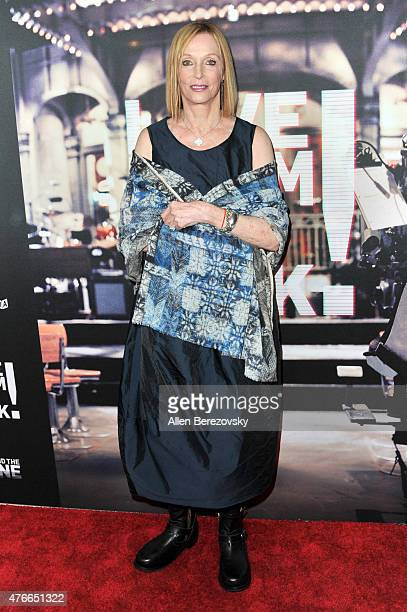 Actress Edie Baskin arrives at the Los Angeles Premiere of Abramorama's Live From New York at Landmark Theatre on June 10 2015 in Los Angeles...
