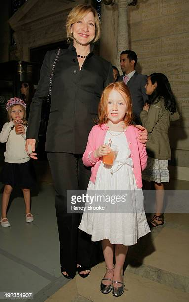 Actress Edie Falco and daughter Macy attend the Ralph Lauren Fall 14 Children's Fashion Show in Support of Literacy at New York Public Library on May...