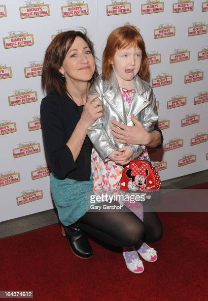 Actress Edie Falco and daughter Macy Falco attend the Disney Live Mickey's Music festival at Madison Square Garden on March 23 2013 in New York City