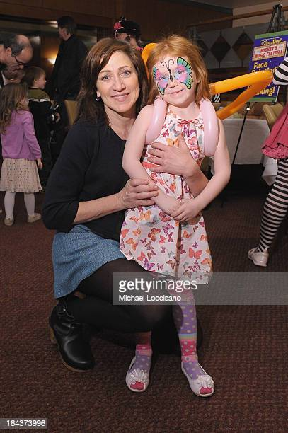 Actress Edie Falco and Macy Falco attend Disney Live Mickey's Music Festival at Madison Square Garden on March 23 2013 in New York City