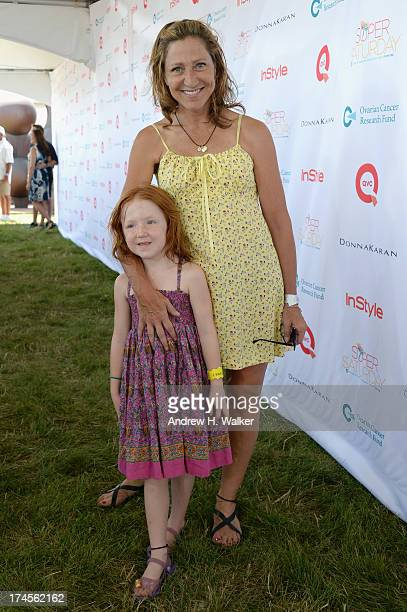 Actress Edie Falco and Macy Falco attend the Ovarian Cancer Research Fund's 16th Annual Super Saturday hosted by Kelly Ripa and Donna Karan at Nova's...