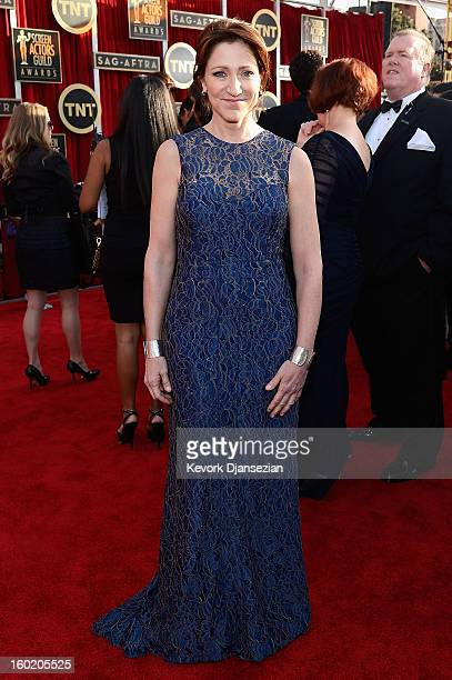 Actress Edie Falco arrives at the 19th Annual Screen Actors Guild Awards held at The Shrine Auditorium on January 27 2013 in Los Angeles California