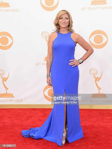 Actress Edie Falco arrives at the 65th Annual Primetime Emmy Awards held at Nokia Theatre LA Live on September 22 2013 in Los Angeles California