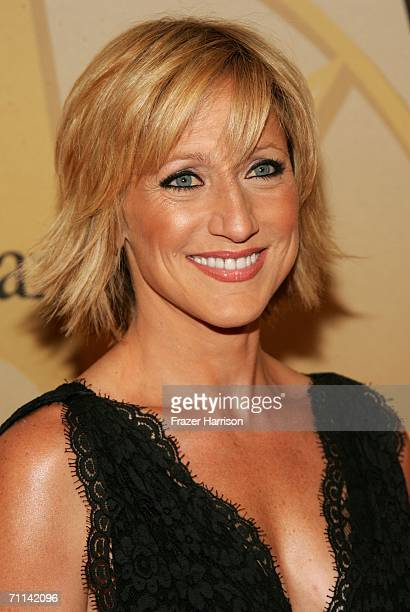 Actress Edie Falco arrives at the Women in Film presentation of the 2006 Crystal and Lucy Awards at the Century Plaza Hotel on June 6 2006 in Century...