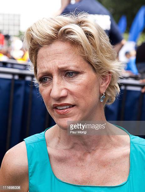 Actress Edie Falco attends a Health Care for America Now rally at Upper Senate Park on June 25 2009 in Washington DC