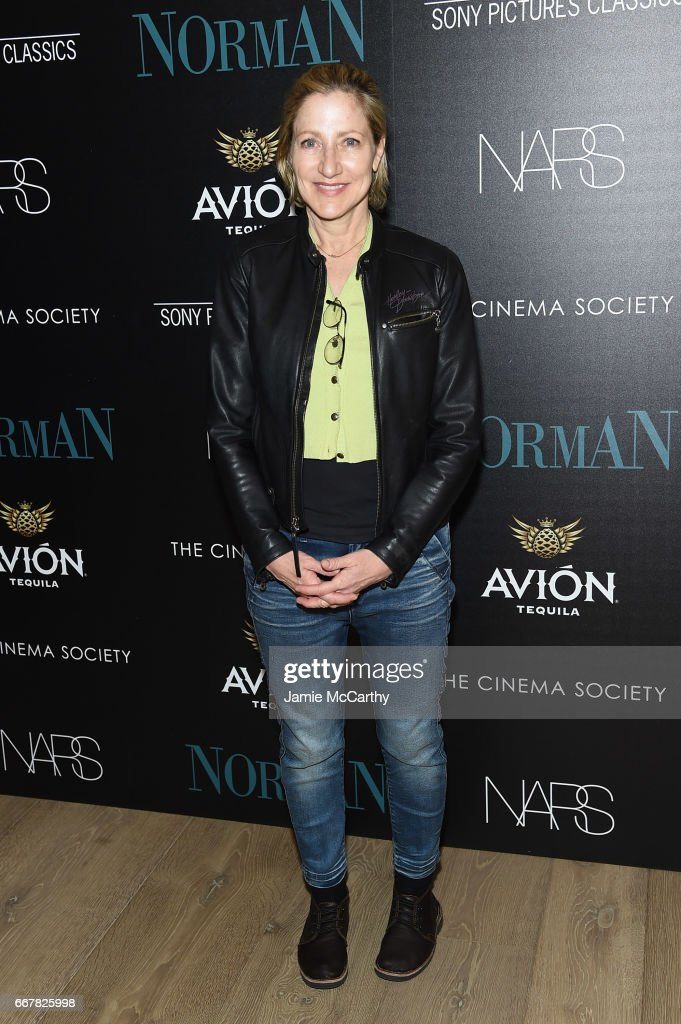 Actress Edie Falco attends a screening of Sony Pictures Classics' 'Norman' hosted by The Cinema Society at the Whitby Hotel on April 12, 2017 in New York City.