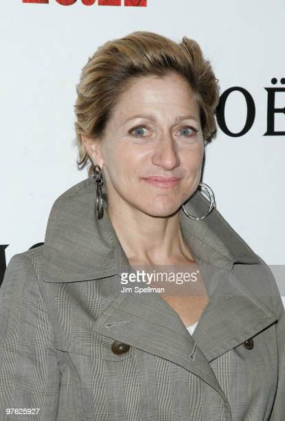 Actress Edie Falco attends a VIP performance of Next Fall on Broadway at the Helen Hayes Theatre on March 10 2010 in New York City