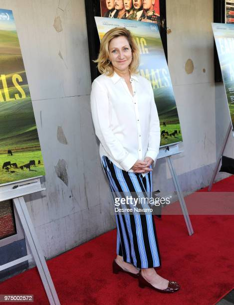 Actress Edie Falco attends 'Eating Animals' New York Screening at IFC Center on June 14 2018 in New York City