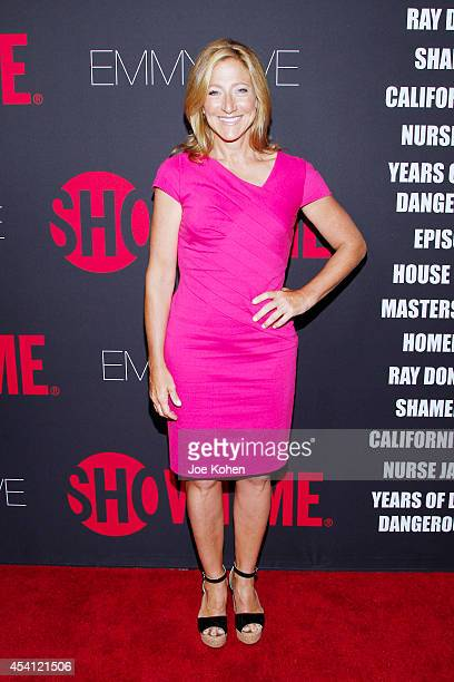 Actress Edie Falco attends Showtime 2014 Emmy Eve at Sunset Tower on August 24 2014 in West Hollywood California