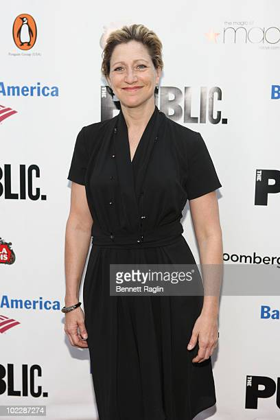 Actress Edie Falco attends the 2010 Public Theater Gala at the Delacorte Theater on June 21 2010 in New York City
