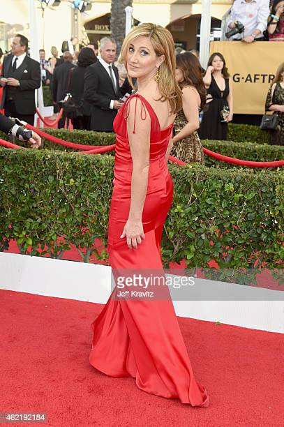 Actress Edie Falco attends the 21st Annual Screen Actors Guild Awards at The Shrine Auditorium on January 25 2015 in Los Angeles California