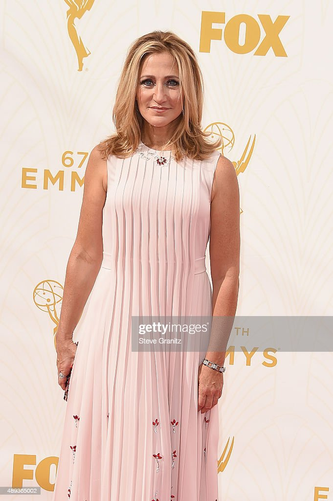 Actress Edie Falco attends the 67th Annual Primetime Emmy Awards at Microsoft Theater on September 20, 2015 in Los Angeles, California.