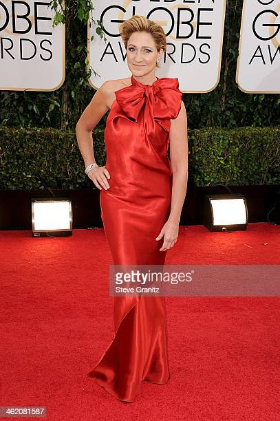 Actress Edie Falco attends the 71st Annual Golden Globe Awards held at The Beverly Hilton Hotel on January 12 2014 in Beverly Hills California