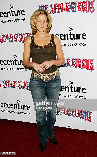 Actress Edie Falco attends the Big Apple Circus opening night gala benefit at Damrosch Park Lincoln Center November 04 2005 in New York City